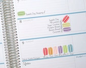 Sweet Macarons Stickers - Weekly Planner - Erin Condren - Printable