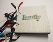 Family Mini Album, Premade Album, Memory Book, Family Brag Book, Family Scrapbook, Photo Album, Chipboard Album, Coaster Album, Family