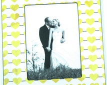 Couples Frame, Yellow Hearts Frame, Friendship frame, 4x6x 5x7, 4x4 frame, 5x5 Frame