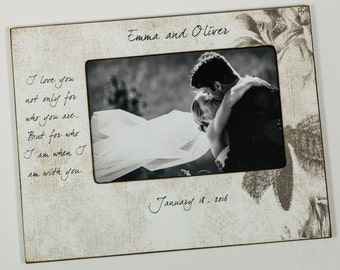 Personalized Couples Frame, Engagement frame, Wedding frame, Anniversary frame, 4x6 / 5x7