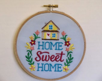 Home Sweet Home Hoop Art Wall Hanging