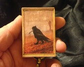 Poe's Raven Pocket Shrine