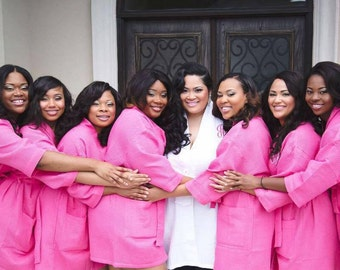 Monogrammed Robes Bridesmaids Gift, Personalized waffle robe, Bridesmaid Robe, Monogrammed Bridesmaid Gift,