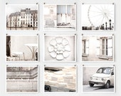 SALE! Fine Art Photography, Paris Gallery Wall Art Prints, White Paris Photography  Extra Large Wall Art, Paris Decor