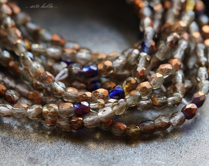 TIDBIT MIX .. 100 Picasso Faceted Czech Glass Beads 3mm (4890-st)