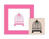 Birdcage Rubber Stamp