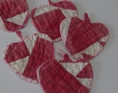 handmade Vintage cutter quilt apple teachers ornaments rose white and red thank you gift holiday  decor end of school