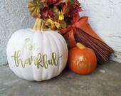 Custom Hand lettered Pumpkins for Caitlin