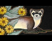 Black Footed Ferret - Original Art