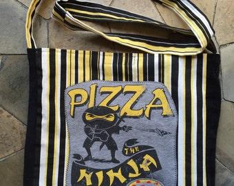 Pizza Ninja tshirt bag