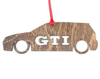 Wooden Volkswagen GTI Ornament