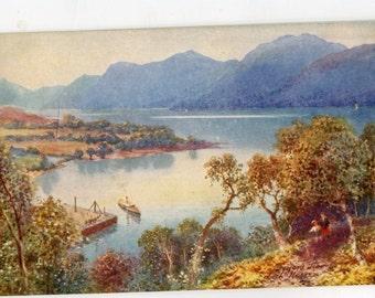 Bonnie Scotland. Caledonian Canal Tuck Oilette Postcard no 7685 vintage postcard, SharonFosterVintage