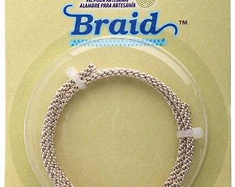 BRAID Artistic Wire 8 Gauge Lead/Nickel Safe-Non Tarnish Silver 1.5 Feet