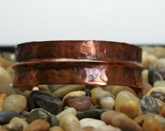 Copper Cuff Bracelet Fold Form