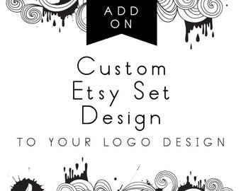 Custom Etsy Shop Set, Add-on with logo design
