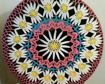 Daisy Crochet Spare Tire Cover
