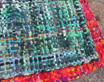 Handwoven Rug, Wool Rug, Crispina Rug, Pot Holder Rug, Potholder Rug 2.5x3.5ft - Spring