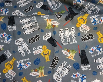 Lucasfilm licensed fabric Star Wars Fabric 66  cm by 108  cm or 26  by 42 inches