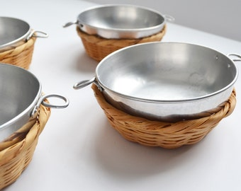 Camping Dishes Aluminum Rice Bowl Bowl in a Basket Japan Small Bowls Camp Dishes