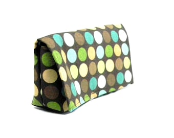Coupon Organizer Holder Moss Dots with Celery Lining