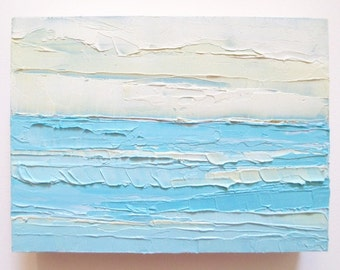Abstract Ocean Painting: In the Current, oil painting, ocean painting, beach, waters, abstract beach painting,