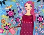 Secret Garden Large Art Print -  Nursery Prints - Children Wall Art - Nursery Decor - Nursery Wall Art - Children Decor - Nursery Art