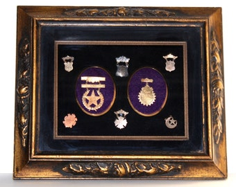 VERY RARE, Antique, 1900s, cakewalk, cake walk, 8 Dance prizes, collection , gold filled, silver, dance, award, of 8 badges.