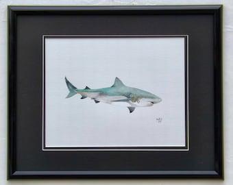 Bull Shark original acrylic painting