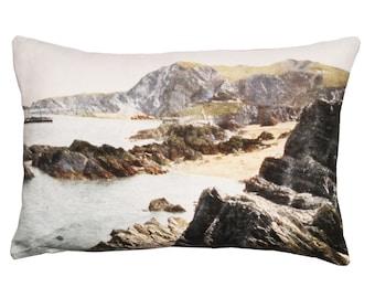 Linen cushion, Coastal scenery design