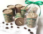 Starbucks Coffee Candle Party Favor Coffee Theme Coffee Scented Candle Soy Coffee Wedding Favor Coffee Stocking Stuffer Coffee Favor Java