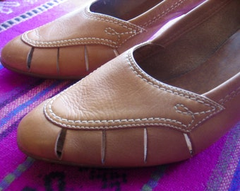 SALE - Gorgeous Vintage Brazilian Leather Heels RED HOT Brand