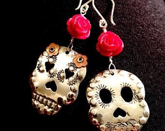 Lovers- Skull Sterling Silver Earrings