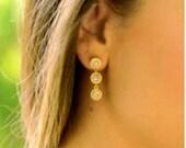 SALE * Druzy color earrings - rich color -SILVER Stones