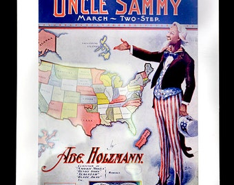 antique sheet music 1904, Political whimsy