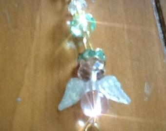 HAZEL Guardian Angel  Purse Charm, Zipper Pull, Key ring  JEAN Jewel, Back Pack Jewel,