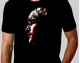 The Beatles John Lennon custom art t-shirt in black