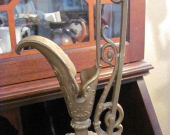 Wow..Lowered Price..Tall Ornate  Brass Vase Most Ornate Hollywood Glamor Gold Glitz Decor,