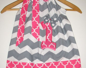 Birthday dress SALE 10% off code is tiljan gray chevron dress  pillowcase dress 3,6,9,12,18 month 2t,3t,4t,5t,6.7.8,