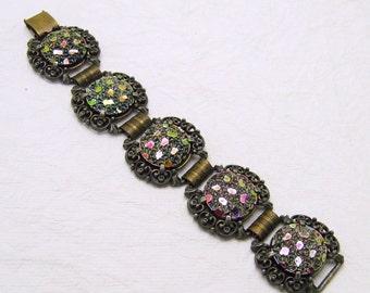 Vintage Judy Lee Bracelet Earrings Jewelry Set S6963