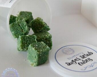 Sugar Scrub Cubes * Blueberry * Body Scrub * Exfoliating Scrub * Solid Sugar Scrub * Vegan Scrub * Shea Soap Scrub * Shea Butter