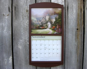 135 x 24 calendar frame calendar holder in wood dark barn reddish brown burgundy large