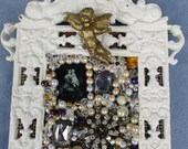Icons, Pearls, Beads,Jewelry in Cast Iron Frame