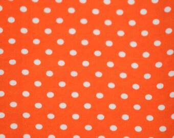 1 yard Knit Orange Dots