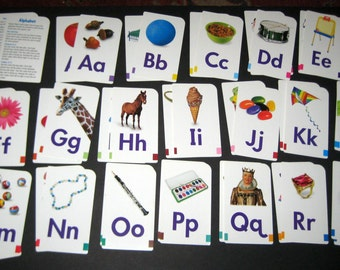 Colorful Alphabet Flash Cards for Scrapbooking, Cardmaking, etc.