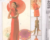 McCalls 4078 Asian Inspired Wardrobe Misses Tops Duster Dress Pants Pattern Womens Sewing Pattern Size 16 18 20 22 Bust 38 40 42 44 UNCUT