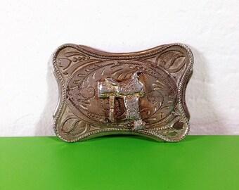 Vintage Saddle Belt Buckle