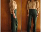 1970s HIGH WAIST wool trousers, xs