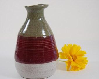 Pottery Bud Vase-Handmade, Stoneware, Small Vase