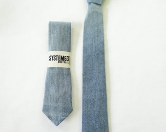 beach wash denim tie