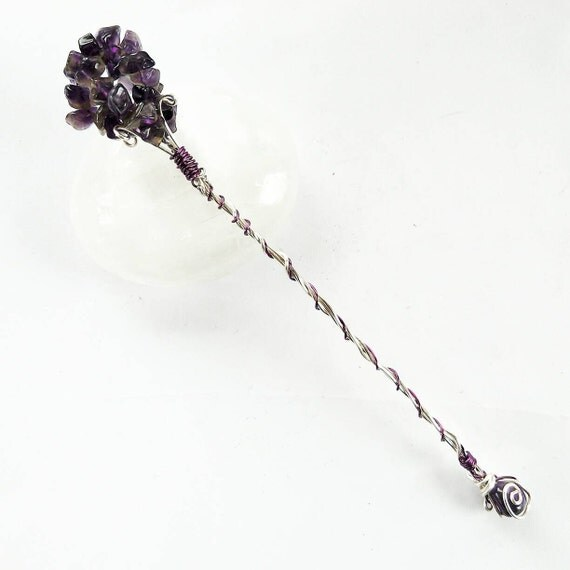 amethyst wand wire wrapped magic wand crystal wand. Black Bedroom Furniture Sets. Home Design Ideas